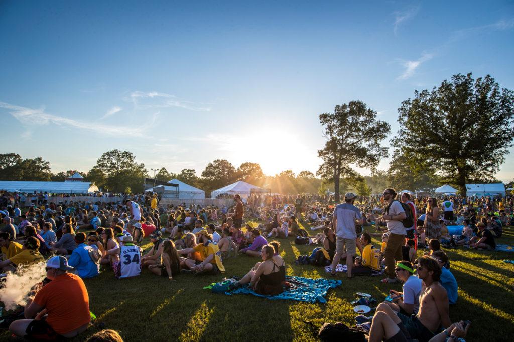 Spectators enjoy Bonnaroo Music & Arts Festival in Manchester, TN, USA on June 8, 2017
