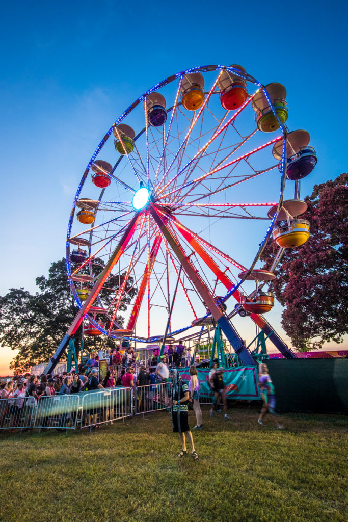 The Ferris Wheel at Bonnaroo Music & Arts Festival in Manchester, TN, USA on June 8, 2017