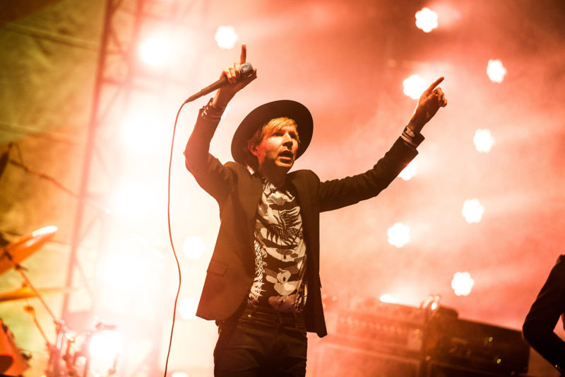 Beck performs during Pilgrimage Festival on September 24, 2016 at The Park at Harlinsdale in Franklin, Tennessee