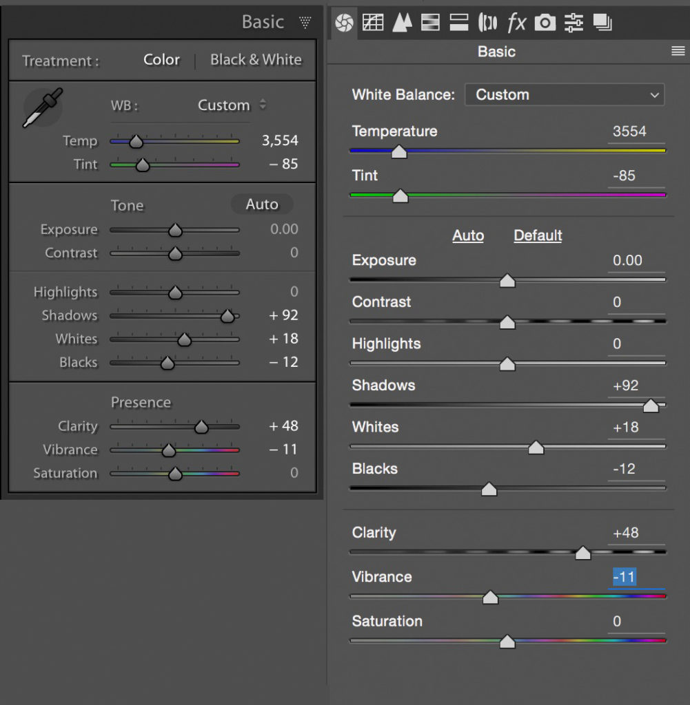 Basic development adjustments in Lightroom and Adobe Camera Raw