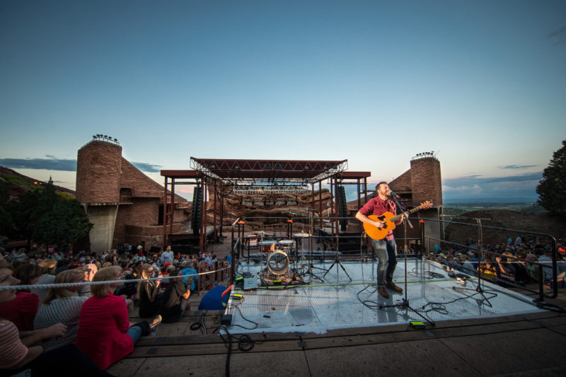 Warren Barfield performs on June 14, 2015 at Red Rocks Amphitheater in Morrison, Colorado