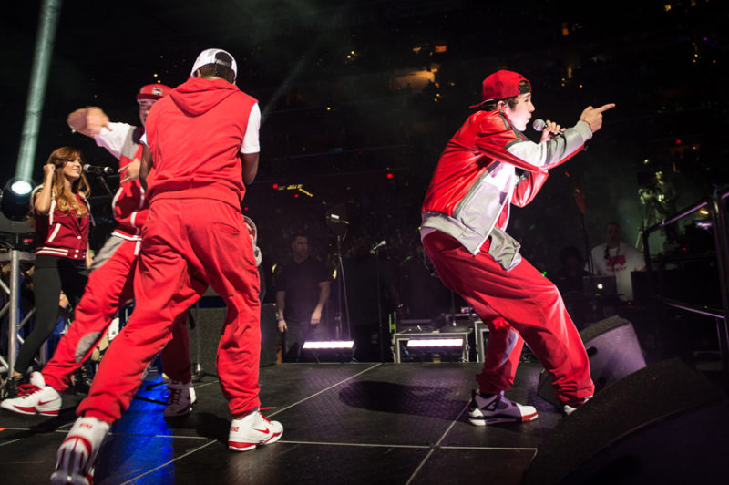 Austin Mahone performs during Y100's Jingle Ball in Miami, Florida