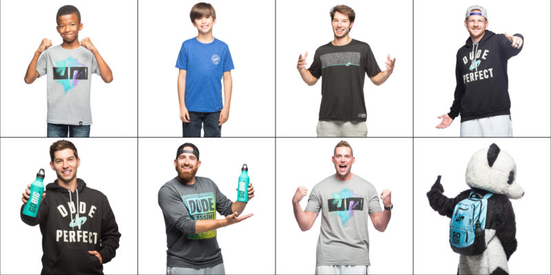 A sampling of all the photos shot for the Dude Perfect Fall 2016 product line