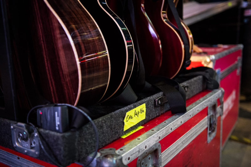 OneRepublic's guitars at 93.3 FLZ's Jingle Ball in Tampa, Florida