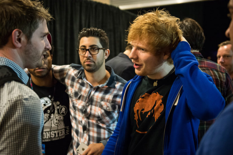 Ed Sheeran backstage at Y100's Jingle Ball in Miami, Florida