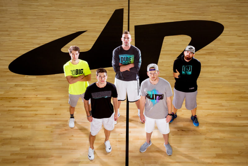 Cory Cotton, Coby Cotton, Cody Jones, Garrett Hilbert, and Tyler Toney of Dude Perfect