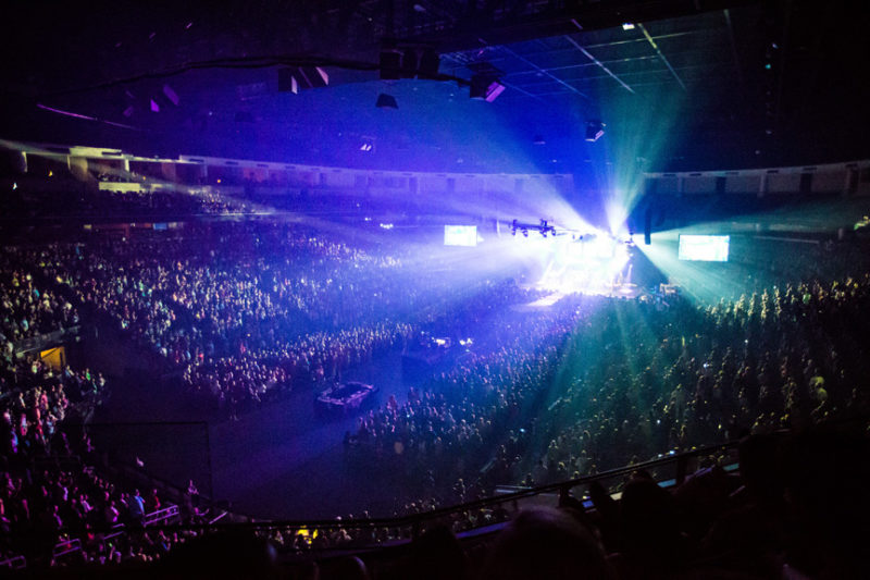 The sold out crowd at the Third Day and Friends concert at Infinite Energy Center in Atlanta, Georgia