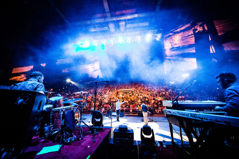 Third Day perform on June 14, 2015 at Red Rocks Amphitheater in Morrison, Colorado