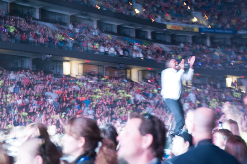 Michael Tait of Newsboys performs during Winter Jam at St. Pete Times Forum in Tampa, Florida