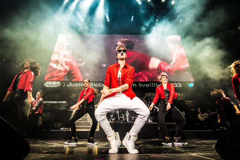 Justin Bieber performs during 93.3 FLZ's Jingle Ball in Tampa, Florida